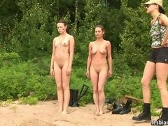 Two military girls trained... porn video
